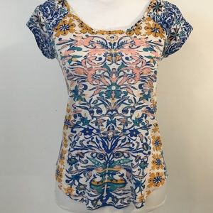Lucky Brand fun and happy patterned top